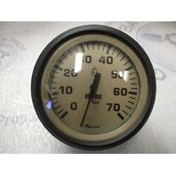 """TC9012A Faria Marine Boat Tach Tachometer 7K 7000 RPM 3 1/4"""" Tan/Black"""