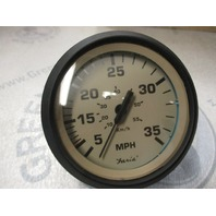 SE9427B Faria Marine Boat Dash Speedo Speedometer 35 MPH Tan/Black