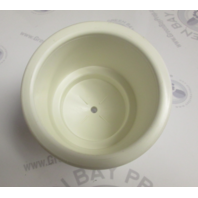 Marine Boat Drink Cup Holder White Plastic with Drain