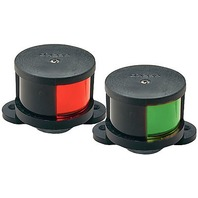 1601DP0BLK Perko Boat Side Lights Bow Lights Red/Green Horizontal Mount Pair
