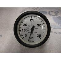 SE9479C Faria Marine Boat Dash Speedo Speedometer 35 MPH White/Black