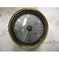 "SE9788A Faria Marine Boat Speedometer Speedo 3 1/4"" Grey/Gold 35 MPH"