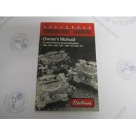 #0034 Edelbrock Performer Series Carburetor Owner's Manual