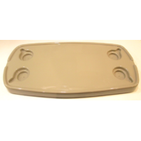 "32"" X 16"" Almond Colored Voyager Pontoon Oval Boat Tabletop Cup Holders 7"" Base"