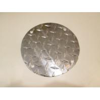 """7 1/2"""" Round Aluminum Diamond Plate Cover"""