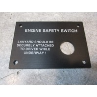 "Marine Boat Dash Engine Safety Switch Panel 3 1/4"" x 2 1/4"""