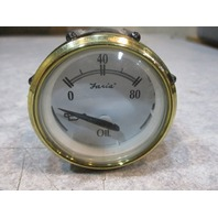 "GP7771B Faria Marine Boat 2"" Oil Pressure Gauge 0-80 PSI White/Gold"