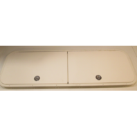 "Marine Ski Double Door White Poly Access Hatch W/ Aluminum Frame 60"" X 20"""
