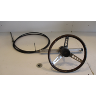 "Ride Guide Heavy Duty 15' 6"" Rack & Pinion Boat Steering Cable w/Helm and Wheel"