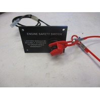 "Marine Boat Dash Engine Safety Kill Switch Panel and Tether Lanyard  3 1/4"" x 2 1/4"""
