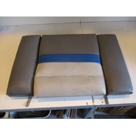 "Bayliner Capri Boat Rear Stern Seat Cushion Grey Blue 38.5"" x 23"""