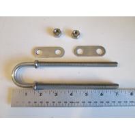 "1310 Epco Marine 7"" 304 Stainless Steel Bow Eye 3/8""Dia. 5 1/2"" Thread"