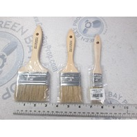 Chip Bristle Boat Stain Paint Brush Set of 3