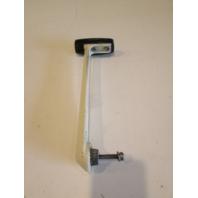 34689 2 Mercury Mariner Throttle Remote Control Handle White W/Black Grip 1970's