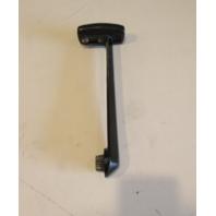 34689 2 Mercury Mariner Throttle Remote Control Handle Black W/Black Grip 1970's