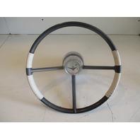 "Vintage Crestliner Marine Boat Steering Wheel 15"" 3 Spoke 1960's"