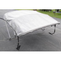 "Gray Boat Bimini Top Sun Shade 80"" Wide 3 Bow With Storage Boot."