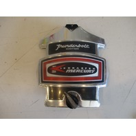 Mercury Outboard Thunderbolt 4 Cylinder Red Decal Chrome Front Cowling Cover
