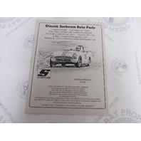 Classic Sunbeam Alpine-Tiger Auto Parts Catalog 7/2002