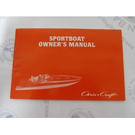 1982 Murray Chris Craft Sportboat Owner's Manual