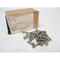 "#14 x 1""  Philips Stainless Steel Pan Head Sheet Metal Screw (250 Qty)"