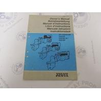 7733237-5 Volvo Penta 251 DOHC/SP 250/SP 230/SP Stern Drive Owner's Manual
