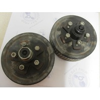 "HD-1000 Complete 10"" Greased 5 Hole/Bolt Trailer Wheel Hub & Drum Pair"