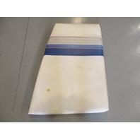 Boat Left Port Bow Seat Cushion for 1993 Sea Ray 180 White & Gray & Blue Vinyl