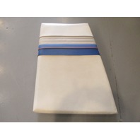1993 Sea Ray 180 Boat Right STBD Bow Seat Cushion White & Gray & Blue Vinyl