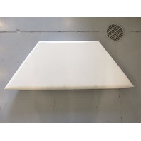 1993 Sea Ray 180 Boat Front Bow Seat Cushion White Marine Vinyl
