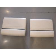 "1997 Bayliner Capri 1750LS Rear Jump Seat Butt Cushion 24"" x 18"" White Set (2)"