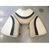 1996 Bayliner Capri  Boat White Blue Grey Bow Seat Cushions