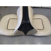 1996 Bayliner Boat Seat Back to Back Fold Down White Blue Grey