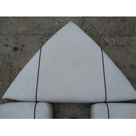1989 Bayliner Capri Boat White Bow Seat Cushions Black Stripe