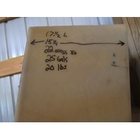 Plastic Boat Gas Tank 25 Gallons 32 x 17 1/2 x 15 1/4