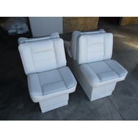 "Vintage Marine Boat Folding Back to Back Seat White 36"" x 13 1/4"""