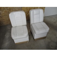 "Vintage Marine Boat Rear Seat Set (2) White 28"" tall x 14.5"" wide"