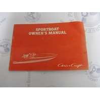Used 1982 Murray Chris Craft Sportboat Owner's Manual