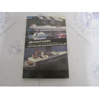 1985 Marathon Pleasureboats Boat Owner's Manual