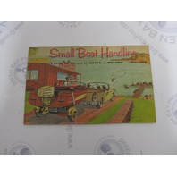 OBC Small Boat Handling Owner's Guide Boats Motors Trailers 1965