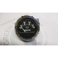 VP9152A Faria Marine Boat Volts Dash Gauge Black/White Chrome