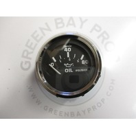 GP9637A Faria Marine Boat Oil Temp Dash Gauge Black/White Chrome
