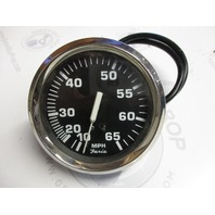 SE9798B Faria Marine Boat MPH Speedometer Dash Gauge Black/White Chrome