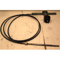 Vintage Boat Rack & Pinion Steering Cable & Helm 17FT