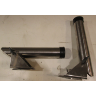 STAINLESS ROD HOLDERS WALL MOUNT 2 WAY ADJUSTABLE (Set of 2)