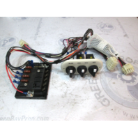 Off White Boat Dash Accessory Switch Panel With Fuse Block