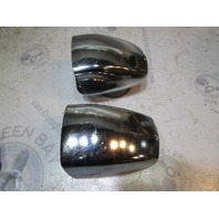 Set of 2 Vintage Chrome Clam Shell Vent Covers From 1973 Thompson Boat