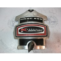 Mercury Kiekhaefer Merc 650 65 HP Silver/Black/Red Front Cowl Cover Plaque