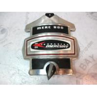 Vintage Mercury Merc 500 50 Silver/Black/Red Front Cowl Cover Plaque