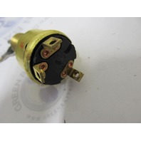 Cole Hersee Marine 3-Pole Brass Case Ignition Switch & Key CH523